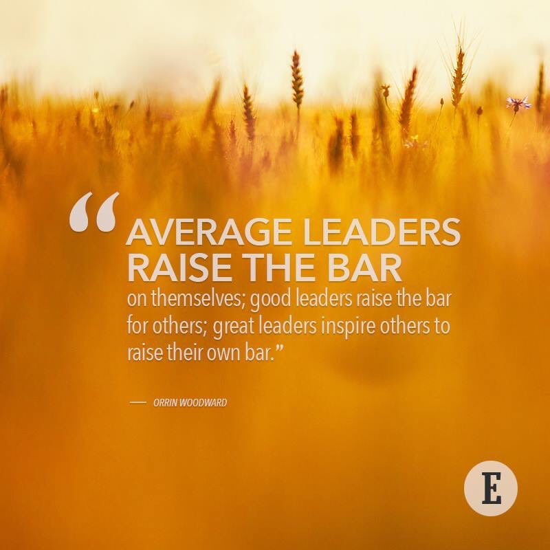 """""""Great leaders inspire others to raise their own bar."""" — @Orrin_Woodward  #MastermindEvent #Entrepreneur https://t.co/r3YjJCmon3"""