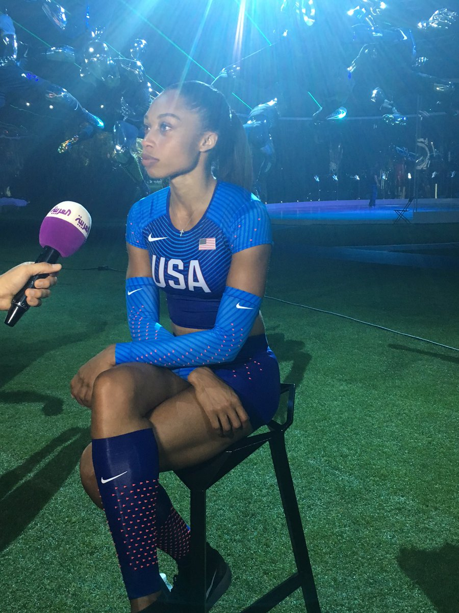 We had an awesome chat with @allysonfelix at #Nike2016 Innovation Summit in New York. Stay tuned for the interview https://t.co/wgXDzKOFb9