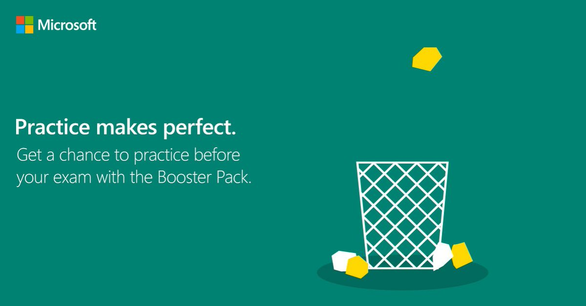 Practice Makes Perfect Get A Microsoft Certification Booster Pack