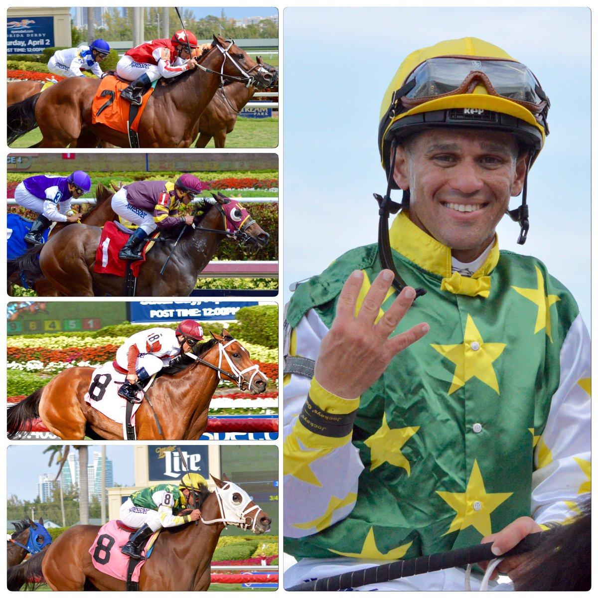 Four wins today for Javier Castellano (@jjcjockey)! Congratulations!