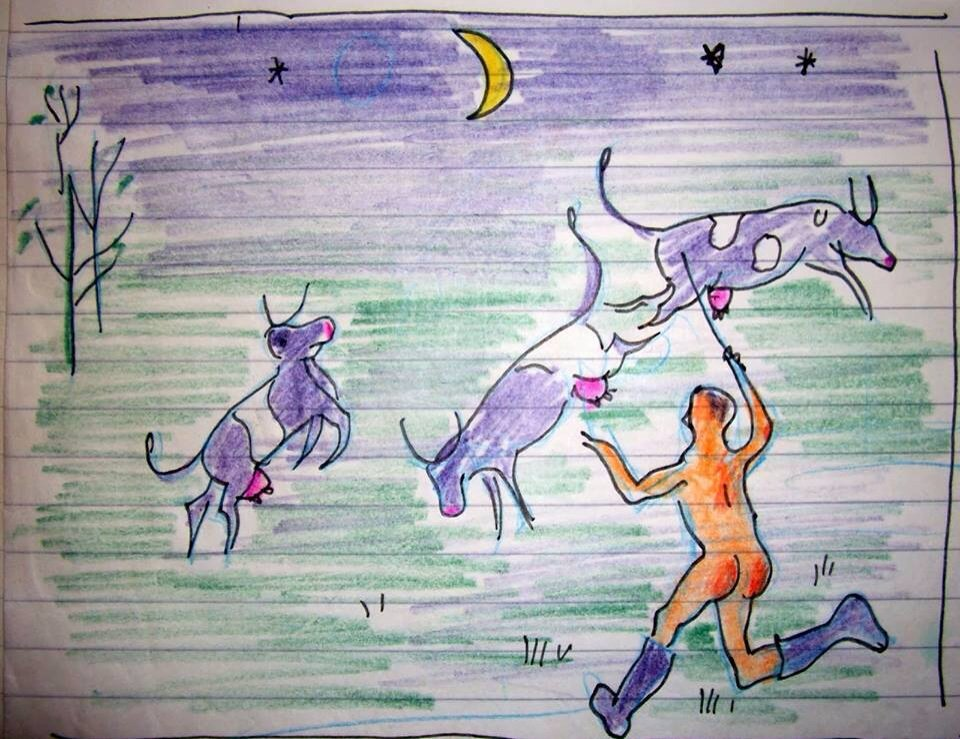Never chase loose cows in the nude at night because your child will draw a picture 4 school. Via Facebook friend https://t.co/j5PvDpwE5c