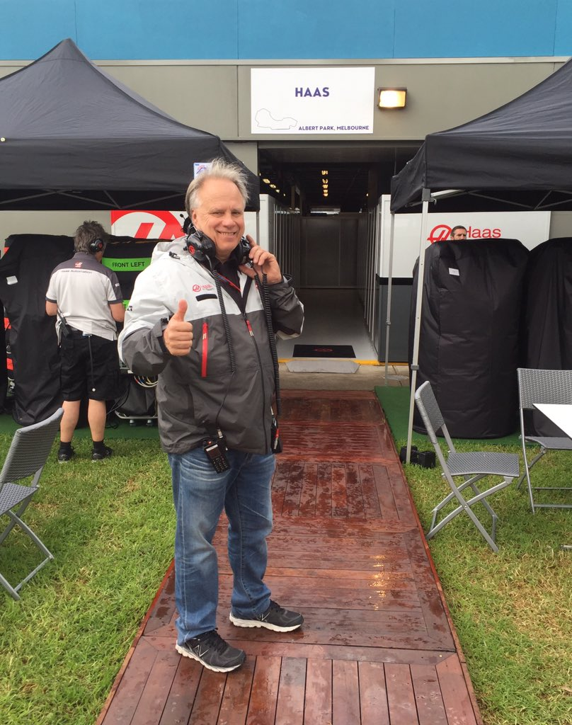 Congratulations Gene and the entire @HaasF1Team - America is back on #F1 grid! @ausgrandprix #AusGP https://t.co/xLKeQl5lb2