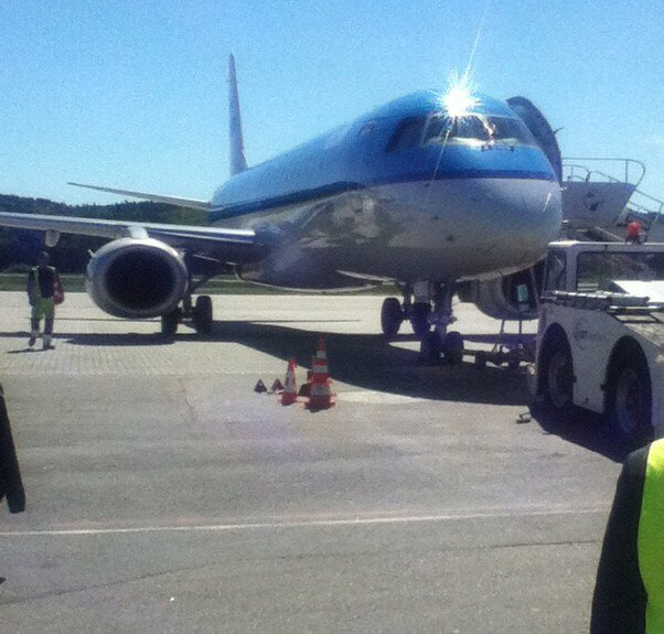 KLM Cityhopper flight involved in Basel airport