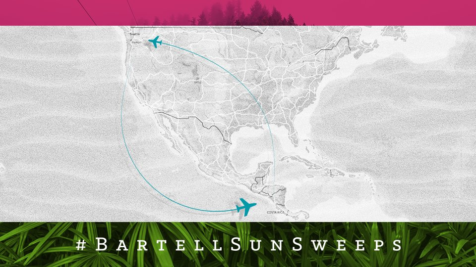 MT @bartelldrugs: Costa Rica is far - flying @AlaskaAir is the logical choice. Enter Contest