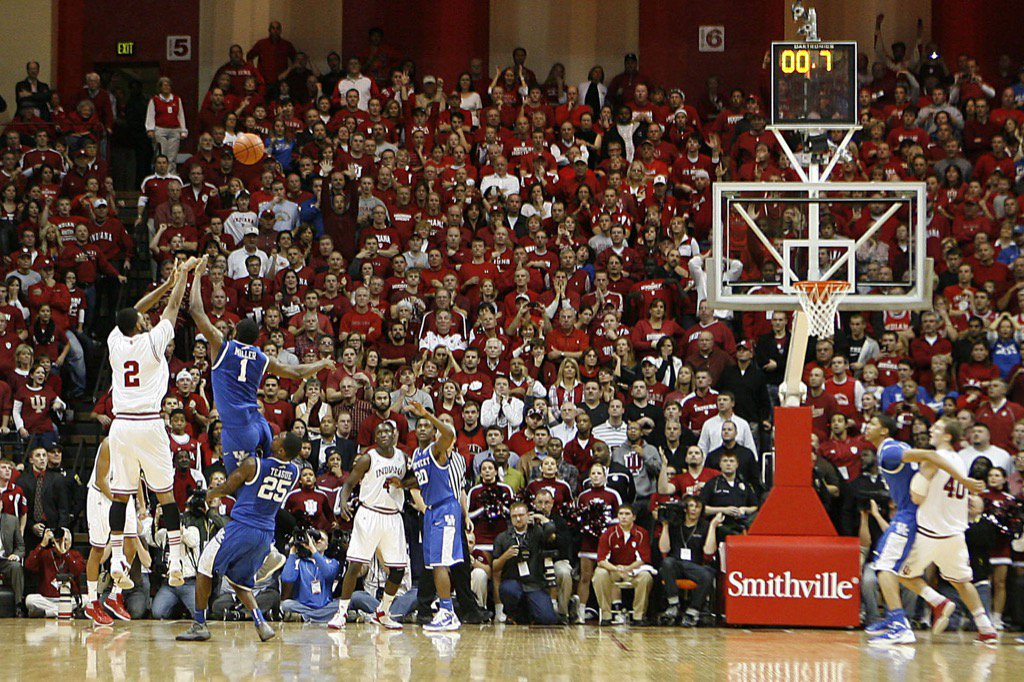 They don't play annually anymore but they will meet in the 2016 NCAA Tournament. Indiana vs. Kentucky, Saturday. https://t.co/qwaNcCA42A