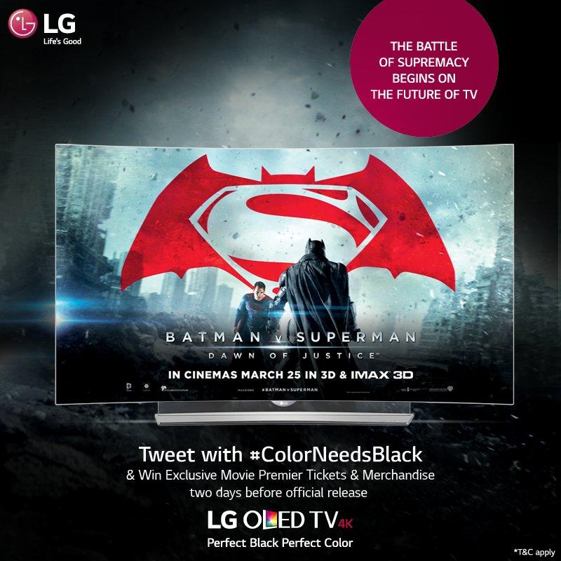 BatfansVSuperfans! Battle it out & decide! Participate in #ColorNeedsBlack #contest & get a chance 2 win MoviePasses https://t.co/1qECR70EnS