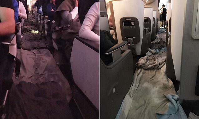 British Airways A380 FLOODED after service trolley hits a pipe that causes water