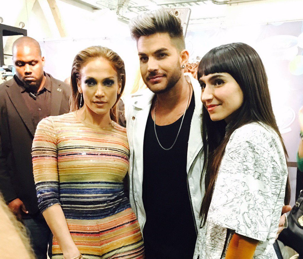 Then this! MY #AmericanIdol @JLo congratulating @laleh and @adamlambert on a great performance of #WelcomeToTheShow https://t.co/Q8e0gNEKQ2