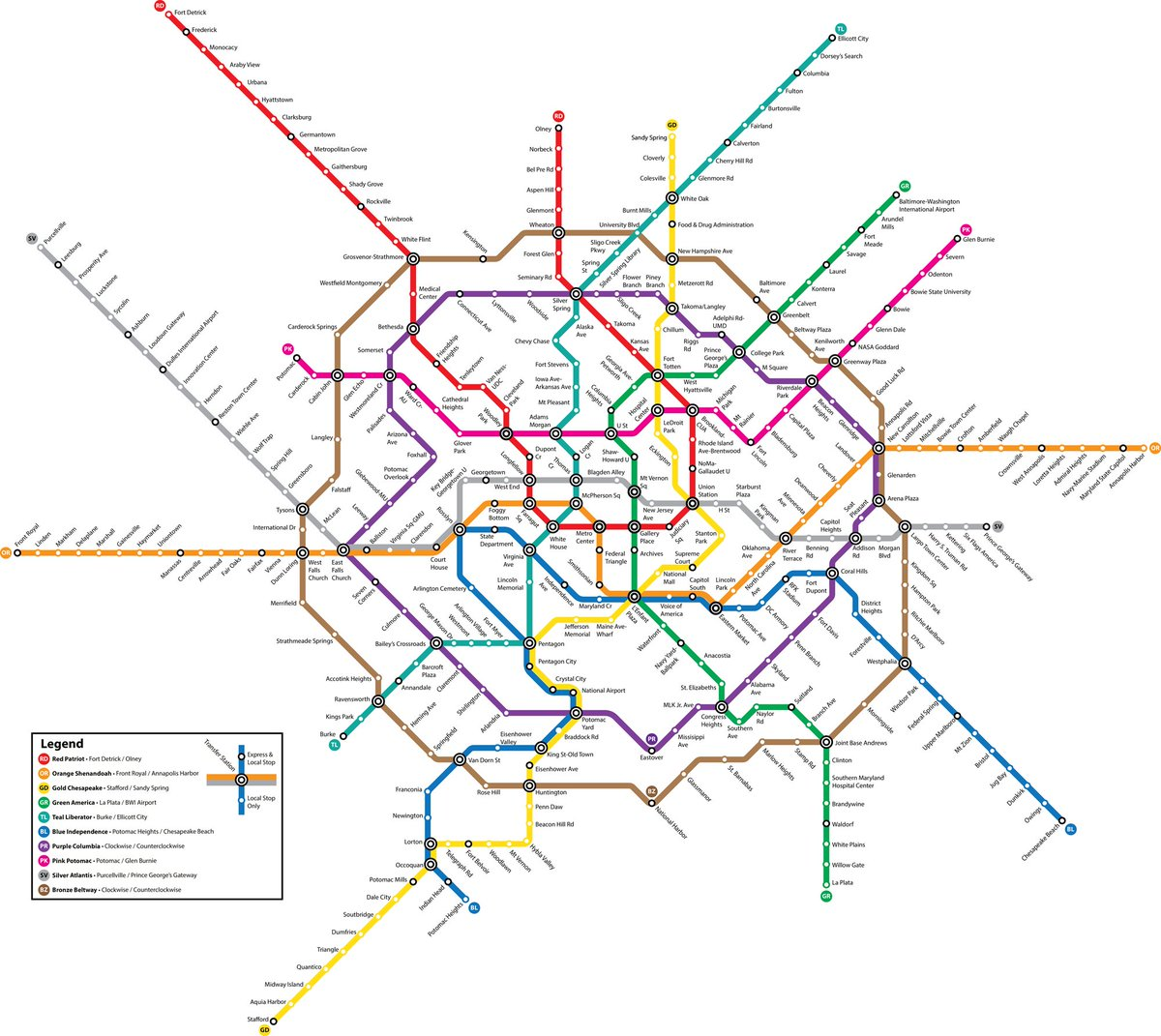 This person's April Fool's joke is the most sprawling #WMATA fantasy map I've ever seen. https://t.co/Y7NsIDTrEq https://t.co/pVsAs2h9VW