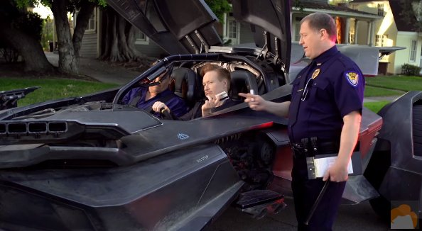 See Conan O'Brien drive around town in the Batmobile via @VarietyLatino