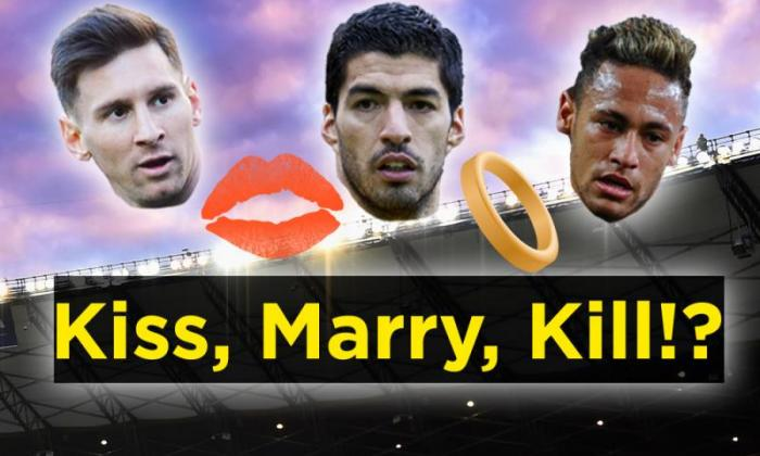 video  girls play kiss  marry  kill with lionel messi