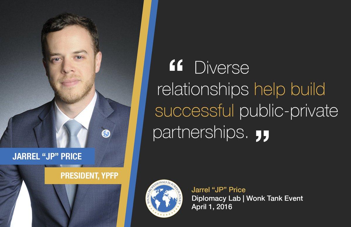 .@ypfp stands w #WonkTank & @DiplomacyLab to build stronger #partnerships around the globe @GPatState @jarrel_price https://t.co/bx1659jYGa