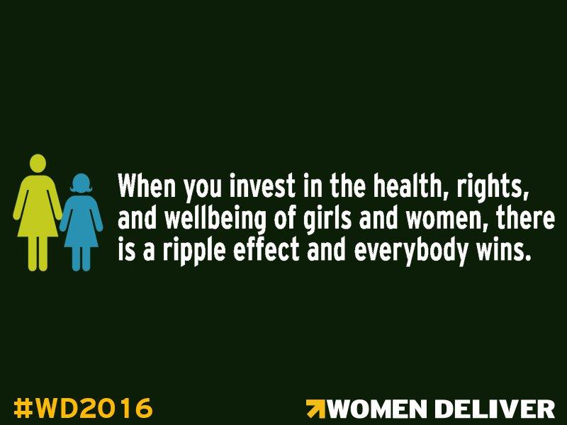 Investments in girls & women = sustainable development, stronger economies, & improved health #WD2016 #IntegratedDev https://t.co/Htph6ifaV0