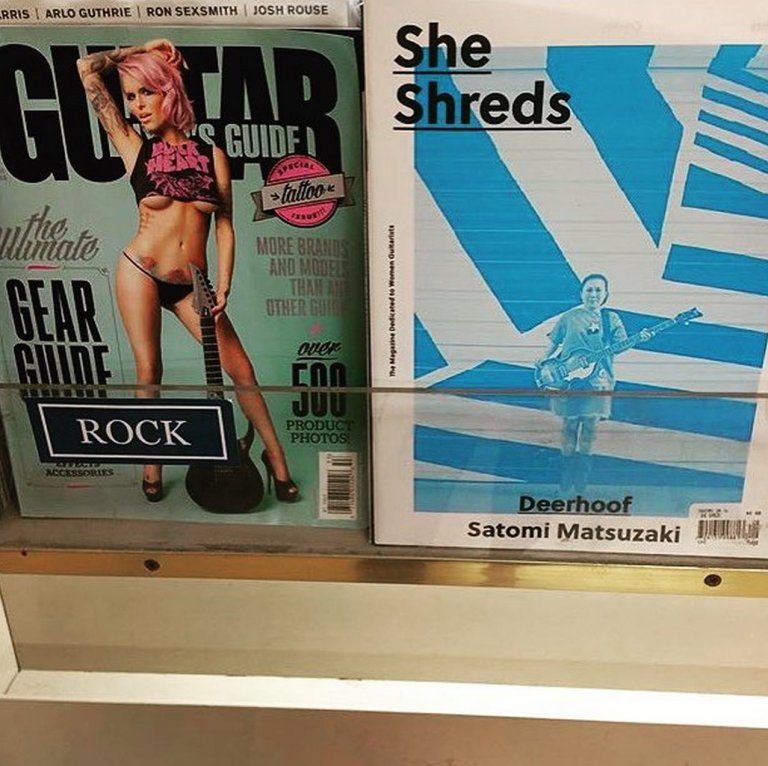 """""""Guitar World announced that they will begin representing women as musicians"""" @SheShredsMag"""