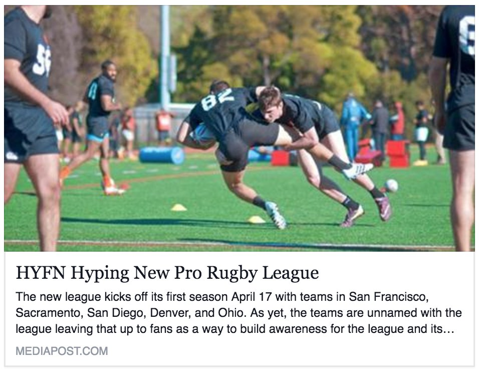 How @hyfn and @ProRugbyUSA teamed up to introduce #rugby to the US market https://t.co/yiphcoSg0i https://t.co/YrUz4VALt7