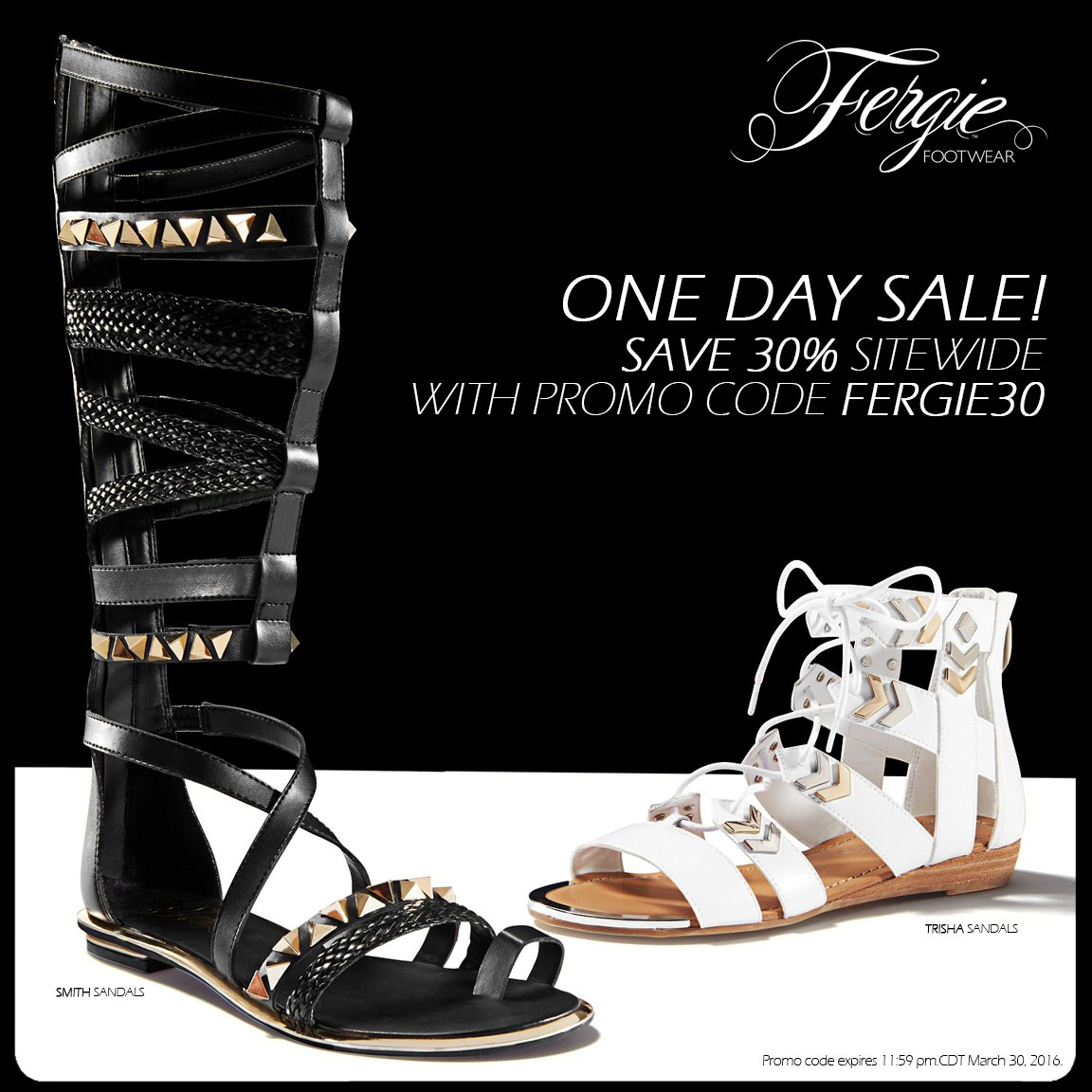 RT @FergieFootwear: #TodayOnly, take 30% OFF all @Fergie #shoes w/ #promocode FERGIE30!???? #shoesale #shoeshopping https://t.co/SKXmVHcjxn ht…