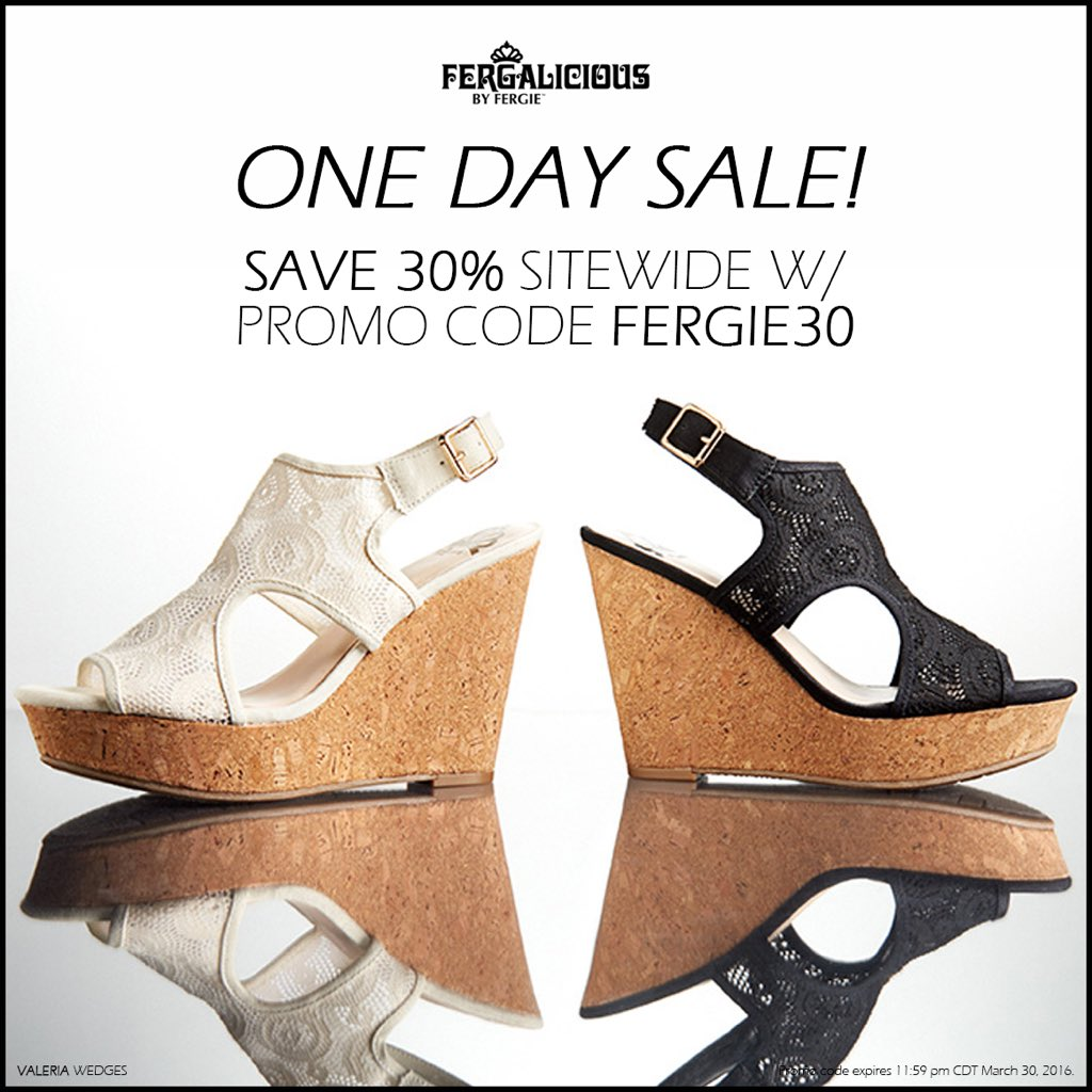 RT @FergaliciousBF: #TodayOnly, take 30%OFF all #Fergalicious by #Fergie #shoes w/ #promocode FERGIE30!#shoesale https://t.co/NWYCUncuY8 ht…