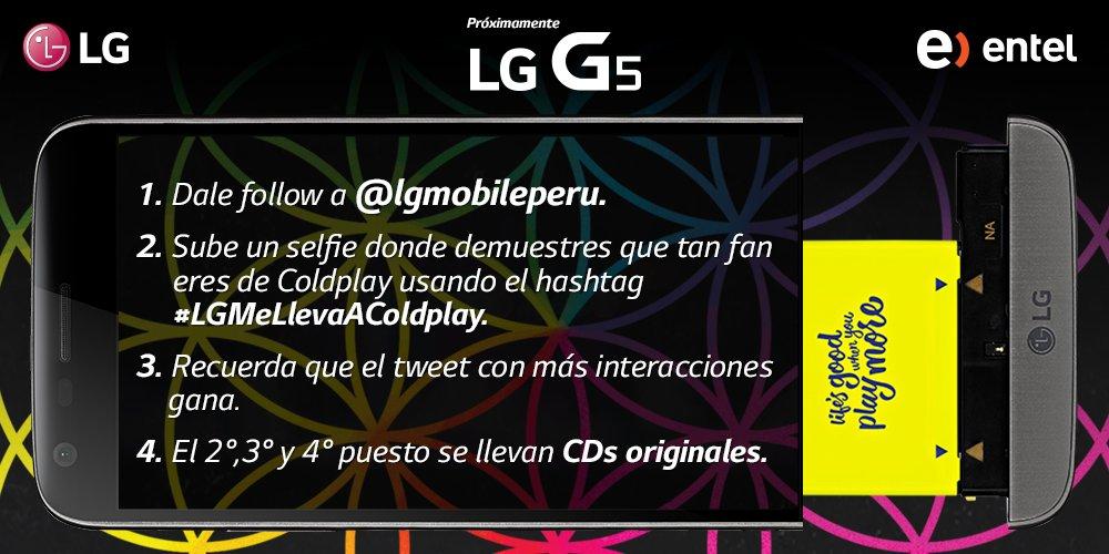 ¡LG te lleva a #Coldplay! ¡Tenemos una entrada y CDs originales para ti! Tienes hasta mañana para participar ;) https://t.co/Ob3mVRVpIR