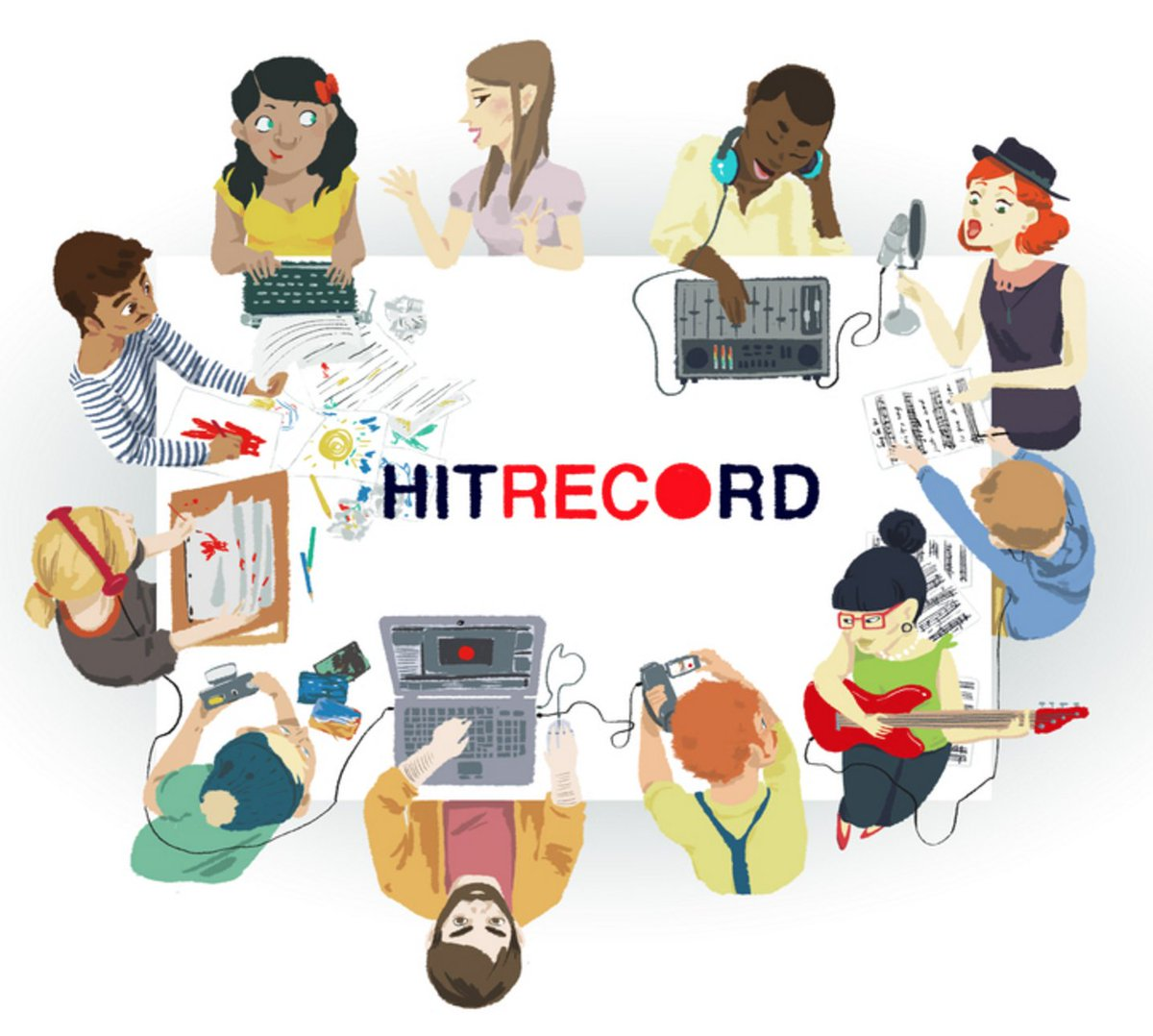 I think we'll make better stuff on @hitRECord the better that we know each other.. https://t.co/4euNoioLIn https://t.co/vQW3Hf2UXe