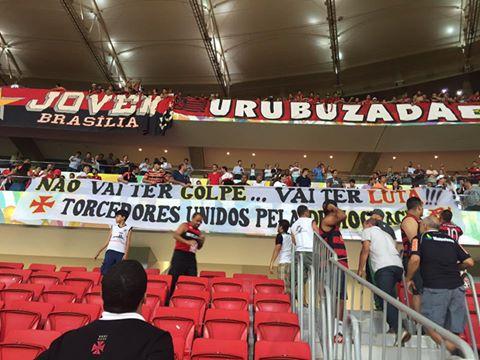 Torcidas do Vasco e do Flamengo contra o Golpe! https://t.co/W3Ji0ynVMZ