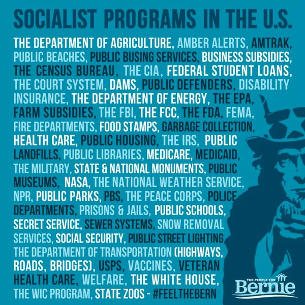 You Realize That We All Benefit from Democratic Socialism Every Single Day  #SignsYoureABernieSupporter https://t.co/FVdw5wKuOX