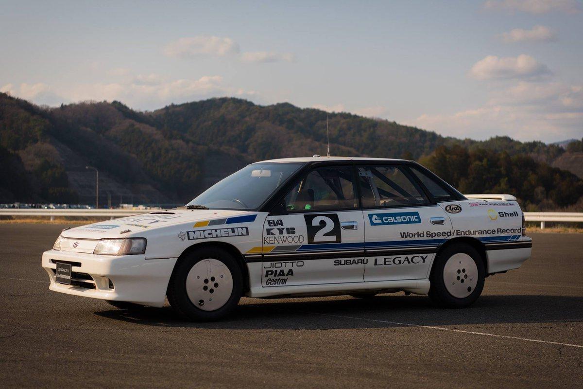 栄光のレガシィ10万キロ速度記録保持車。27年ぶりの復活に感動。 #SUBARUな車たち #スバルファンミーティング #スバルファンミ https://t.co/dD6bJjar4C