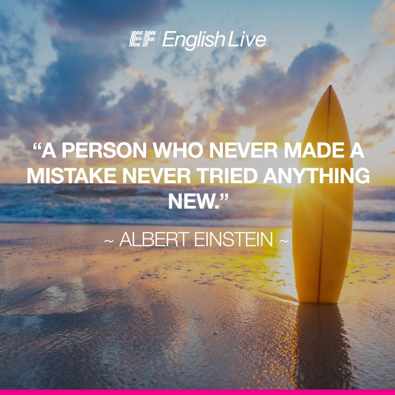 Making mistakes can be taken as an opportunity to learn new things. Don't be afraid, start your English course today https://t.co/BrI8ehVQQ6