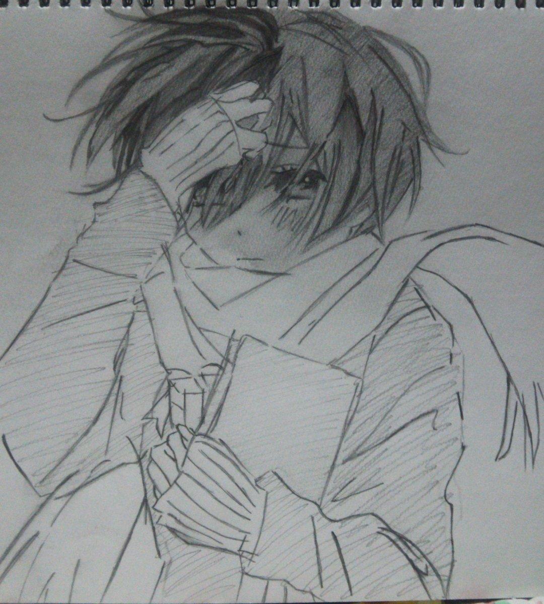 久しぶりに描けたぁぁぁ!!「僕らはみんな河合荘」の河合律ちゃん!可愛い◝(⑅•ᴗ•⑅)◜..°♡鉛筆模写も久しぶり。#絵
