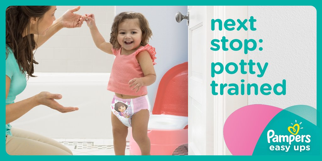 Potty training is easy with the superior leak protection of Pampers Easy Ups. https://t.co/i5XzaMxtw7