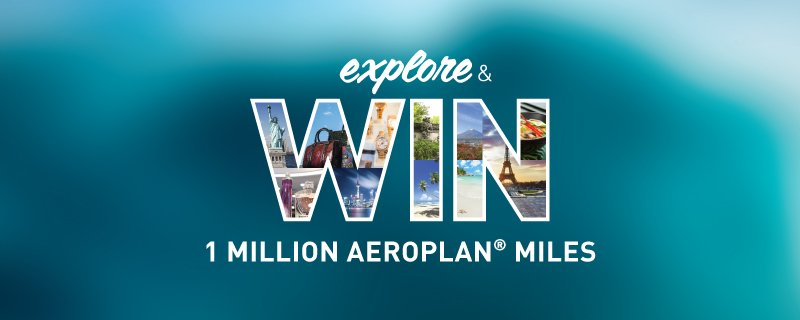 Today is your last chance to win 1 million @aeroplan miles. Fly around the world for free!