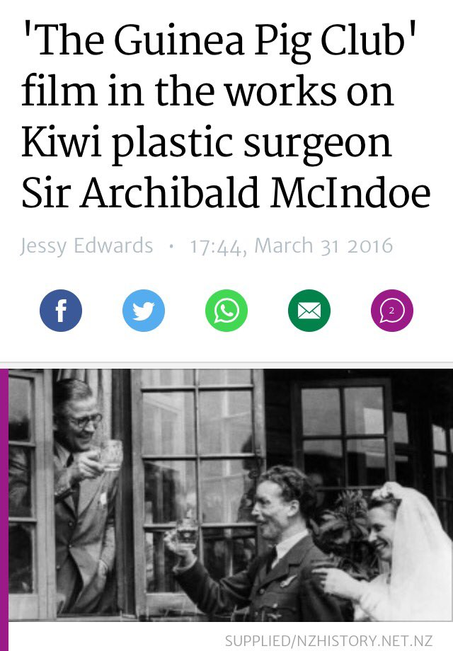 Sir Archibald McIndoe's story to be told on the big screen #plasticsurgery #cosmeticsurgery https://t.co/b6XPUlEFVa https://t.co/CMOlzdYeEq