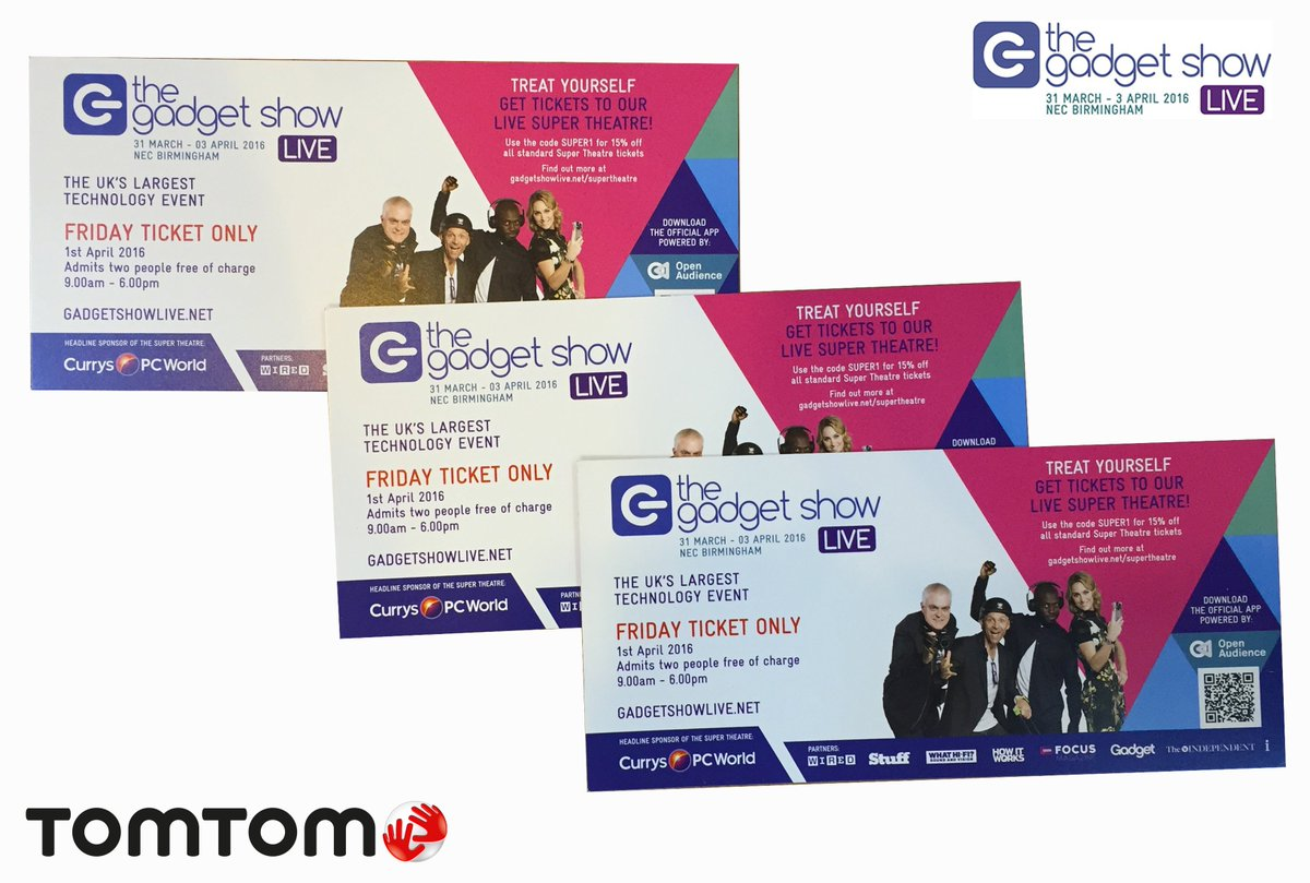 We're at @GadgetShowLive! RT for a chance to #win tickets to Friday's show. #Comp ends at 6pm. #GSL16 #gadget https://t.co/NzRkST4Ajx