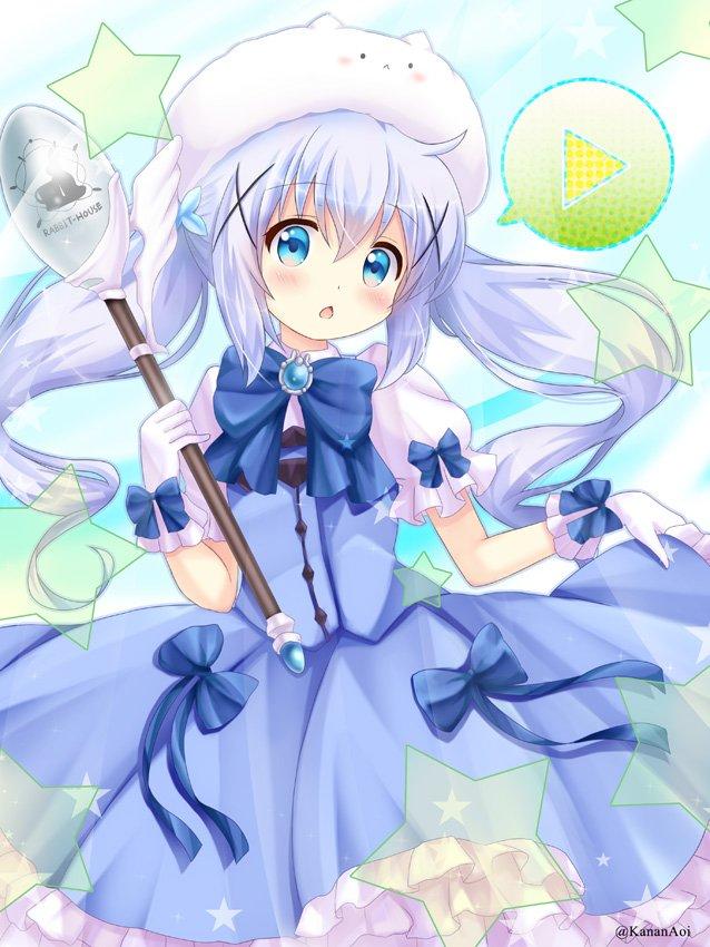 魔法少女チノちゃんからもう1年経ってしまっているという… #gochiusa