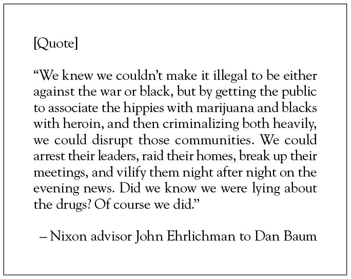 """From Dan Baum's """"Legalize It All,"""" published in the April 2016 issue of Harper's Magazine: https://t.co/WbUPzsewK8 https://t.co/MGm8AqO41M"""