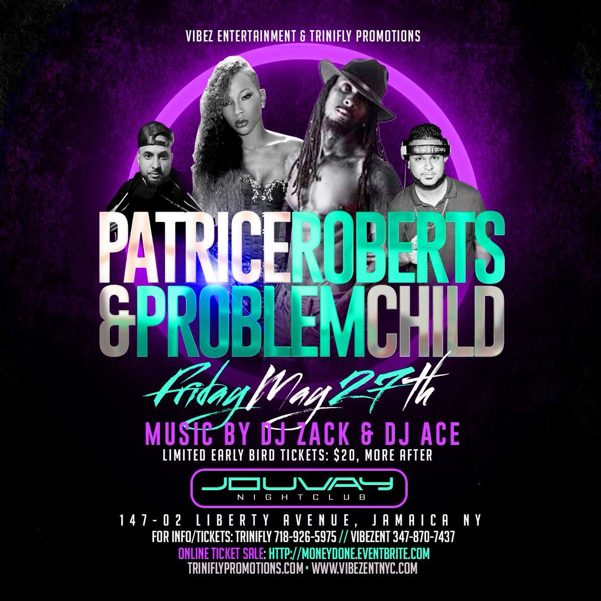 Limited $25 tickets left for Money Done! Patrice Roberts & Problem Child performing live @Jouvay on May 27 #TriniFly https://t.co/6KL908jbmg