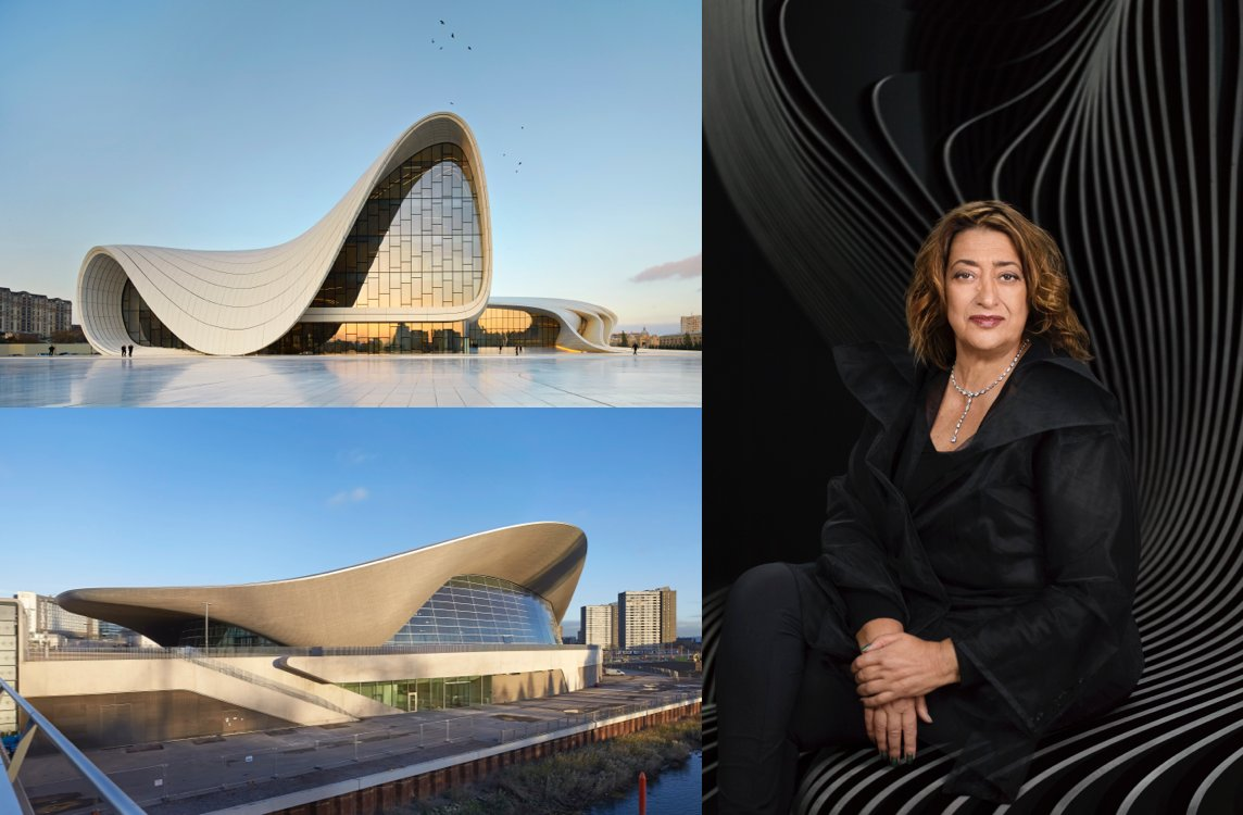 #ZahaHadid's designs blurred the line between art & architecture. More on her life & work: https://t.co/cpSTPvdxQk https://t.co/qvlbH8nRE6
