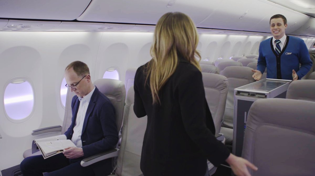 "For our newest inflight innovation we asked, ""what could be taken away?"""