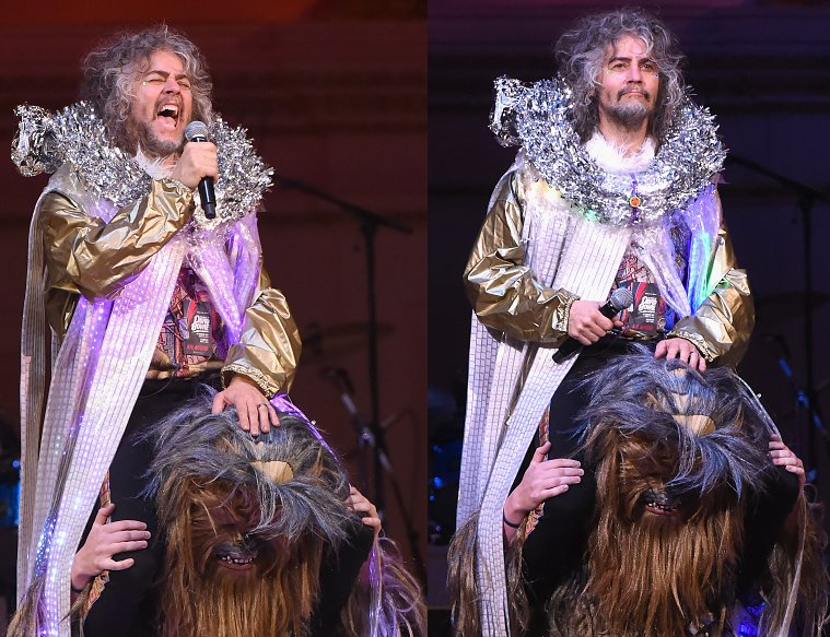 "Tonight @TheFlamingLips played ""Life on Mars"" at David Bowie Carnegie Hall show with @WayneCoyne on top of Chewbacca https://t.co/wyUpOi36kZ"