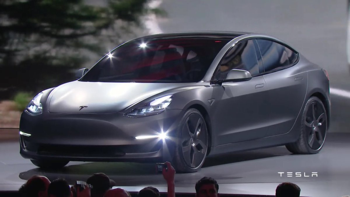 .@tesla #model3 looks incredible! 0-60 <6 secs, 5⭐️ safety & only $35K. This is the day electric cars go mainstream! https://t.co/zvt9jbMVGz