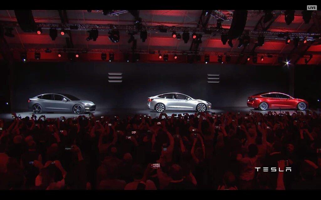 Here it is! @TeslaMotors #Model3 unveiled. https://t.co/EaWvF1BvEb