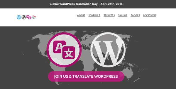 #WPTranslationDay is on April 24 & we're proud to support it! Help translate #wordpress here https://t.co/pTijsaqFNA https://t.co/QQ6SJX4m1n