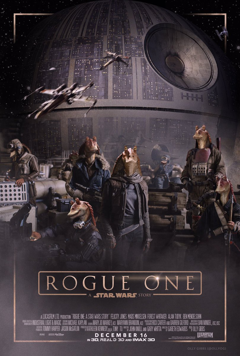 EXCLUSIVE brand new poster for Rogue One: A Star Wars Story has just been revealed! #StarWars #RogueOne #RogueBinks https://t.co/A4J0fUXWMY