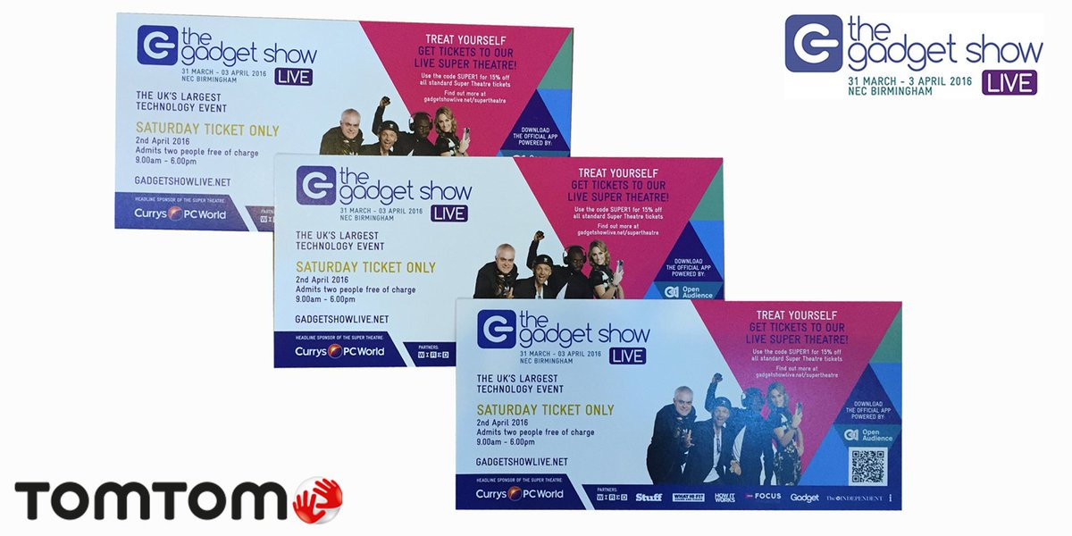 We're at @GadgetShowLive! #Win tickets to tomorrow's show by retweeting this! #Comp ends at 6pm. #GSL16 #gadget https://t.co/PoefAg321t