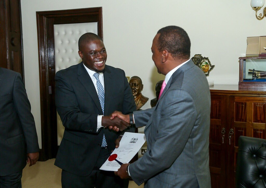 Honored that the National Employment Authority Bill that I sponsored has been signed into law today by @UKenyatta https://t.co/f6ADGuq0f4