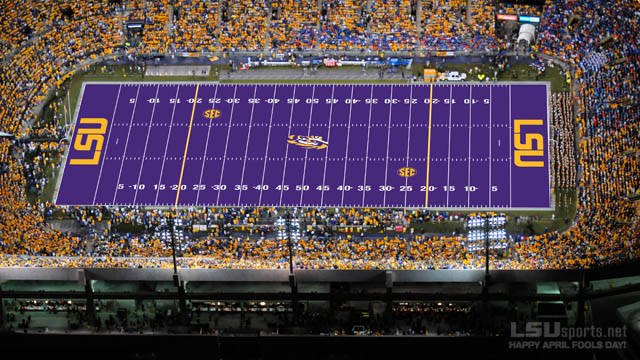 Happy April Fools Day! Remember when @LSUsports said they were going to get purple turf? https://t.co/sUqi7yU1Jr https://t.co/AmDkZpY1sy