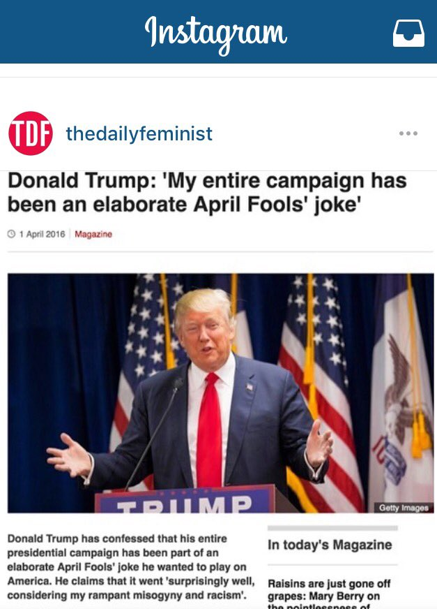 Good morning! If only. #AprilFools https://t.co/7DAKYJhq1f