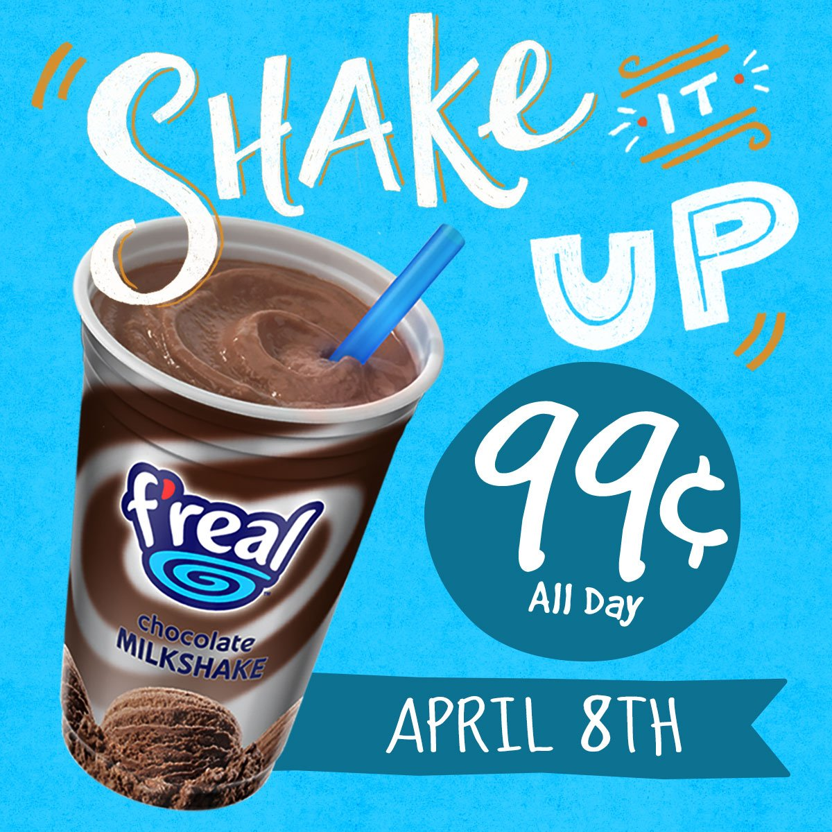 It's coming! $0.99 @therealfreal shakes all day April 8th. All flavors, all Sheetz stores, while supplies last. https://t.co/EFykhKm9qa