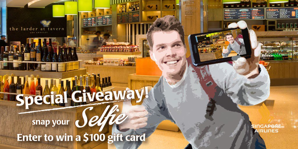 RT @SingaporeAir: Take a selfie for a chance to win a cool giveaway!