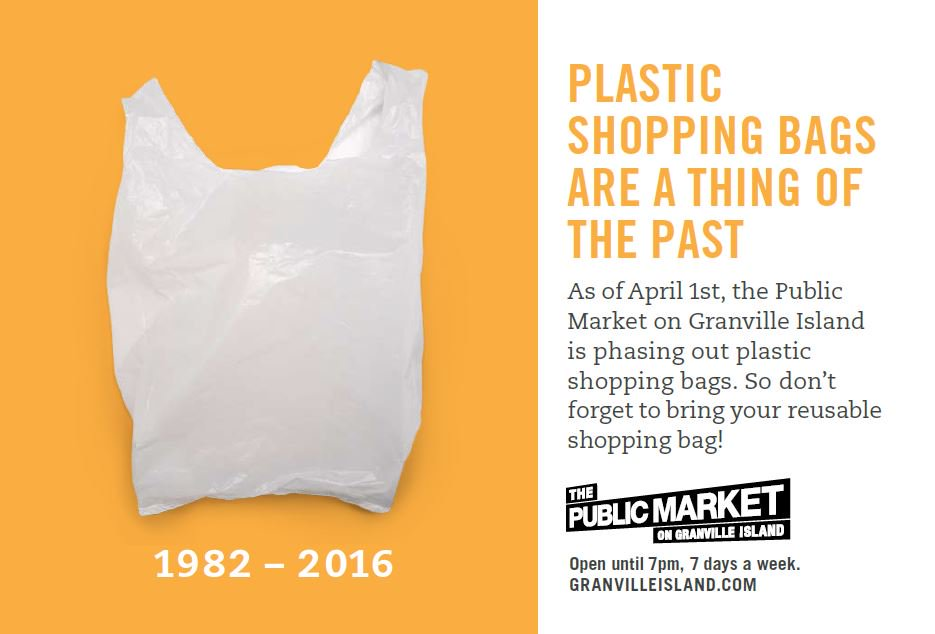 Plastic shopping bags are being phased out of the Granville Island Public Market, starting today! https://t.co/ftRe7HlGc2