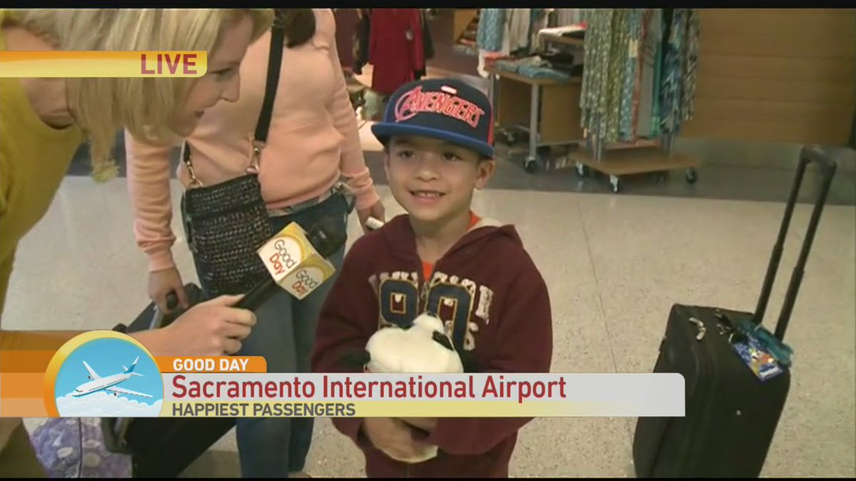 RT @dcap22803: Why are passengers so happy at @SacIntlAirport @CambiBrown finds out on @GoodDaySac